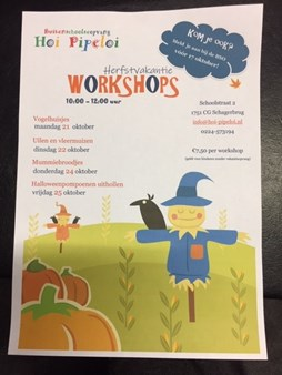 workshops herfstvakantie 2019